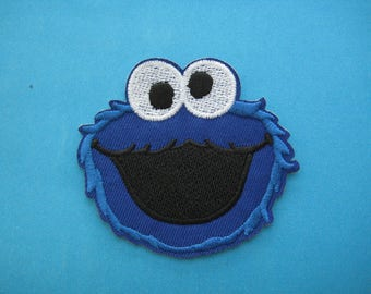 Iron-on Embroidered Patch Muppet Cookie Monster 2.75 inch