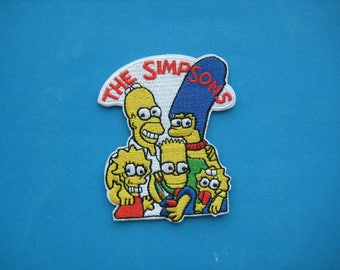 Sale~ Iron-on Embroidered Patch Simpsons Family 3 inch