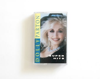 Dolly Parton Super Hits 1990s Country Cassette Tape music Jolene greatest hits