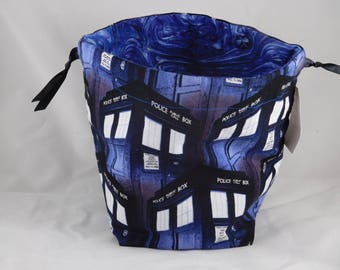 Tardis Drawstring Bag perfect for dice, toys, gifts, cards, game components and so much more!!