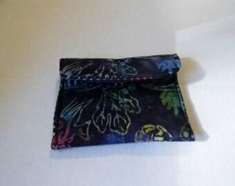 Tropical Fish Batik Pocket Purse