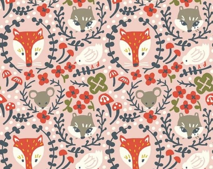 Organic KNIT Fabric - Birch Folkland Knit - Folk Friends Knit