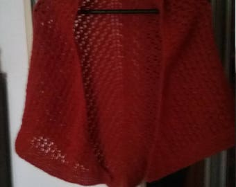 Alpaca crochet shawl