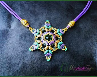 tutorial how to make Vanessa Butterfly pendant with swarovski