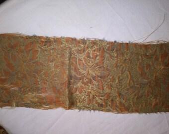 Antique Textile mauve on Gold Brocade Two Pieces