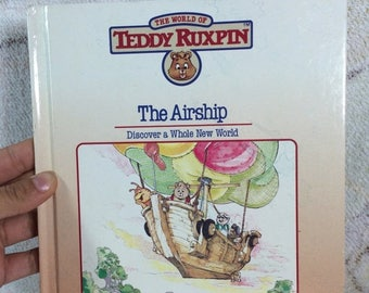 20% SALE 1988 Teddy Ruxpin The Airship Book Read Along Book