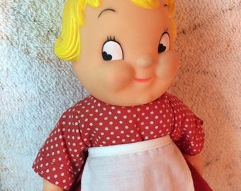 """15% OFF 1960s Rare Mail Order Campbells Soup Kids Doll Missing her Hat 10"""" tall"""