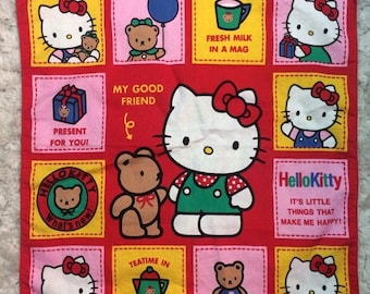 15% OFF 1992 Sanrio Hello Kitty Tea Towel Napkin Hankie Kawaii Retro Japan