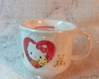 SUMMER SALE 1994 Sanrio Hello Kitty Kawaii Plastic Cup Childrens Cup Melamine