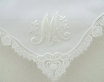 Ivory Wedding hankies, bridesmaid handkerchiefs, handkerchiefs. ivory color hankerchiefs, bride handkerchiefs ivory