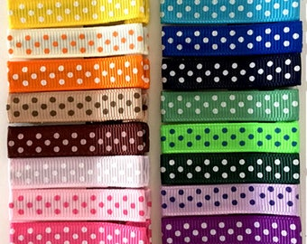 20 Swiss Dot Alligator Hair Clips with No Slip Grip