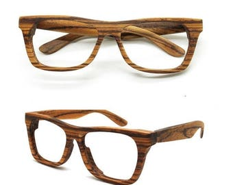20% off SUMMER SALE Can be customize very large size XXL  Walker2011 Handmade big Zebra Wood Sunglasses Glasses from Takemoto