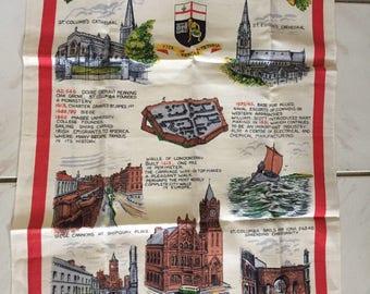 Vintage linen dish towel Londen