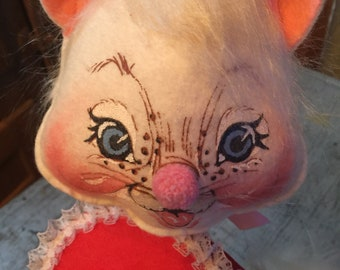 Vintage 1981 Annalee Dolls Valentine Be Mine Cat Kitty