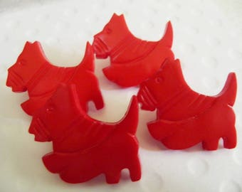 Scottie Dog Red Buttons