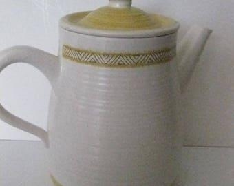 Franciscan Hacienda Gold Coffee Pot Carafe Pitcher