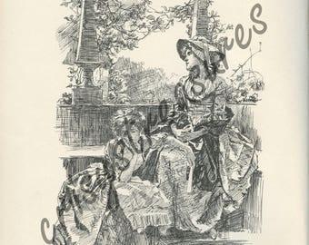 """Digital Ephemera for Collage, Scrapbooking and Cardmaking - """" I Feel So Sad """" Instant Download - Vintage Inspired Illustration"""