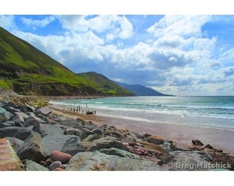 "Fine Art Color Photography of Ireland Ring of Kerry Landscape Wild Atlantic Way Coastline ""Glenbeigh Beach"""