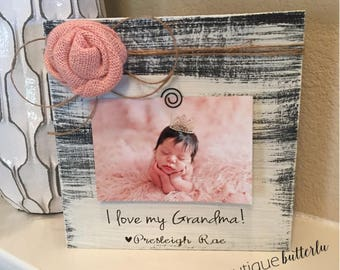 Grandma Gift Personalized Grandma Picture Frame Christmas Gift for Grandma 4x6 Picture Frame from Grandchild