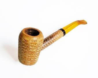 H & B Irwin S. Cobb Corn Cob Smoking Pipe - Vintage Estate Pipe