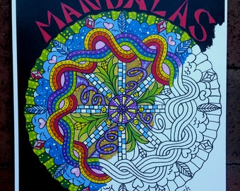 coloring book for adults and children mandalas - Psychedelic Coloring Book