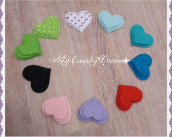 Felt Hearts - Set of 30 heart