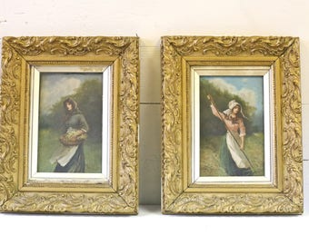 John Mccolvin Paintings Selling as a pair and will not separate 19th century British artist, John McColvin