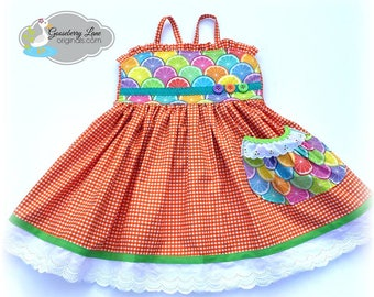 Ready to Ship Size 2/3 Summer Picnic Dress