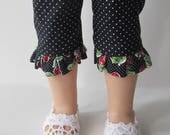"White Lace Shoes For 14.5"" Dolls"