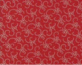 Petites Maisons De Noel Fabric by French General from Moda - Rouge Small Floral