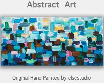 """Original oil Painting Abstract Painting 48"""" Canvas  art, free dynamic Brushwork, fresh eye-catching focal point"""
