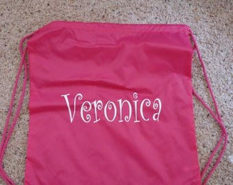 New Beach pool drawstring Backpack Bag Personalized FREE great for Camp, Pool, Makes wonderful goodie Bags for Parties