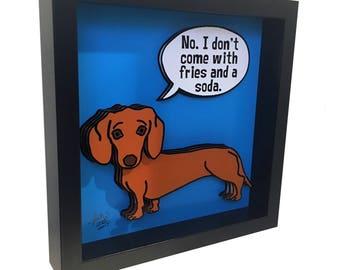 Dachshund Art Dog Art Dachshund Lover 3D Art Dog Print Dachshund Print Dachshund Gift Artwork Dog Print Dog Artwork Dog Lover Dog Lover Gift