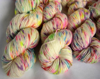 Superfine Alpaca, Merino and Nylon Fingering Sock Weight - Confetti Explosion