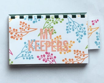 Handmade Orange 'My Keepers' Blank Recipe book for Personal Recipes