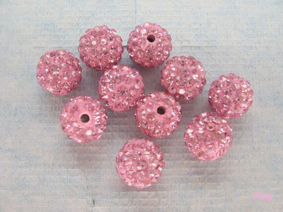 how to make polymer clay beads with rhinestones