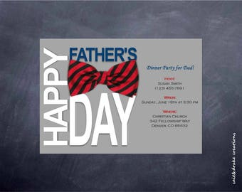 Father's Day Dinner Party Banquet Holiday Dad Invitation Digital Printable!