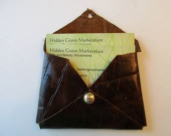 Leather-Mini-Wallet-Business-Card-Holder-Credit-Cards  Brown