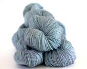 "Hand Dyed yarn  Peyton Sock""Chalkpaint Blue"", sock yarn, merino nylon high twist"