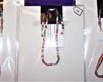 gilded bead necklace and earring sets ~ by Willowbrook Creations