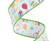 1.5 Inch Happy Birthday Ribbon RG1765RT, Deco Mesh Supplies