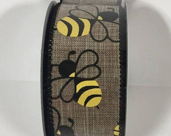 SUPPLY SALE 1.5 Inch Natural Bumble Bee Ribbon TR56209-15