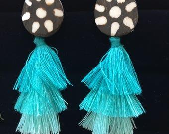 Ombre Batik earrings