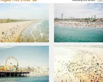 SALE Beach Photography Set, California Photography,  Gallery Wall Prints, Santa Monica, Los Angeles, Beach Gallery Wall, California Art