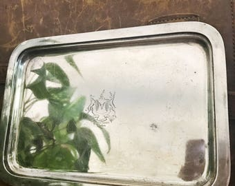 Vintage Silver Plated Tray from The Parker House Hotel Boston