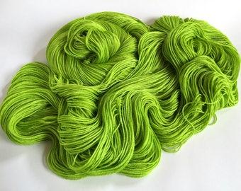 Selkie Merino Silk 4 Ply Fingering Yarn. Sun Limes
