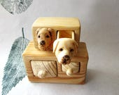 Dog portrait, Dogs cabinet, wood carving, wood box, animal portrait, dog carving, miniature furniture, Personalized Gifts