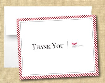 Set of Thank You Cards - Keller Williams Classic Chevron Red