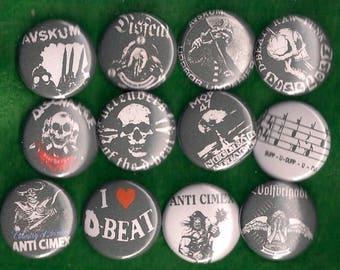 "D-Beat Punk 1"" Pins Buttons Badges x 12 Hardcore Anarcho Discharge Disfear"