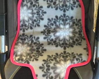 Waterproof Carseat Liner- Light Gray Floral